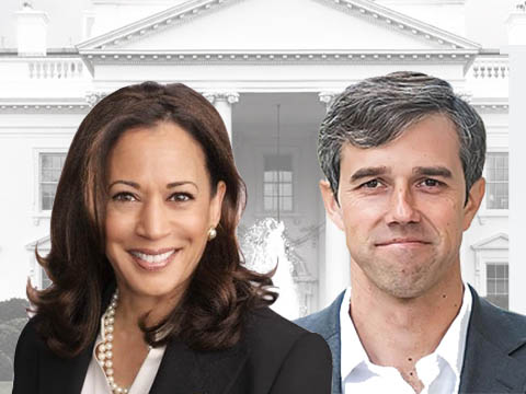 Kamala and Beto in front of White House