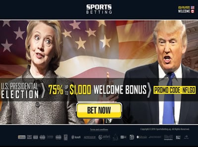 Sportsbetting.ag Political Betting Page