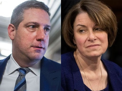 amy Klobuchar qualifies for debate tim Ryan drops from race