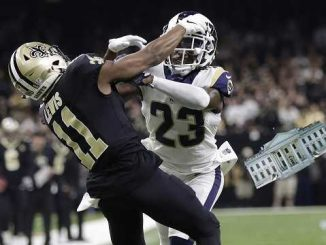saints pass interference call with white house replacing the ball