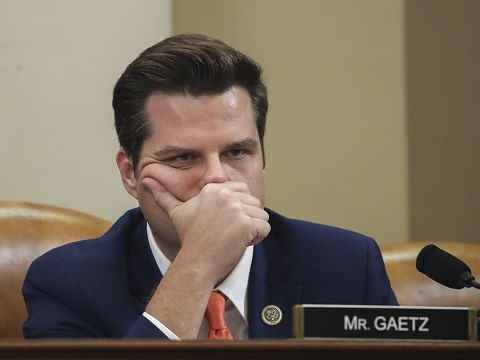 us congressman from florida matt gaetz sad and frowning