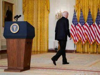 humiliated biden walking away from podium