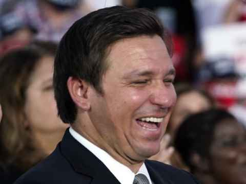 ron desantis laughing