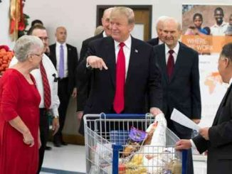donald trump at grocery store